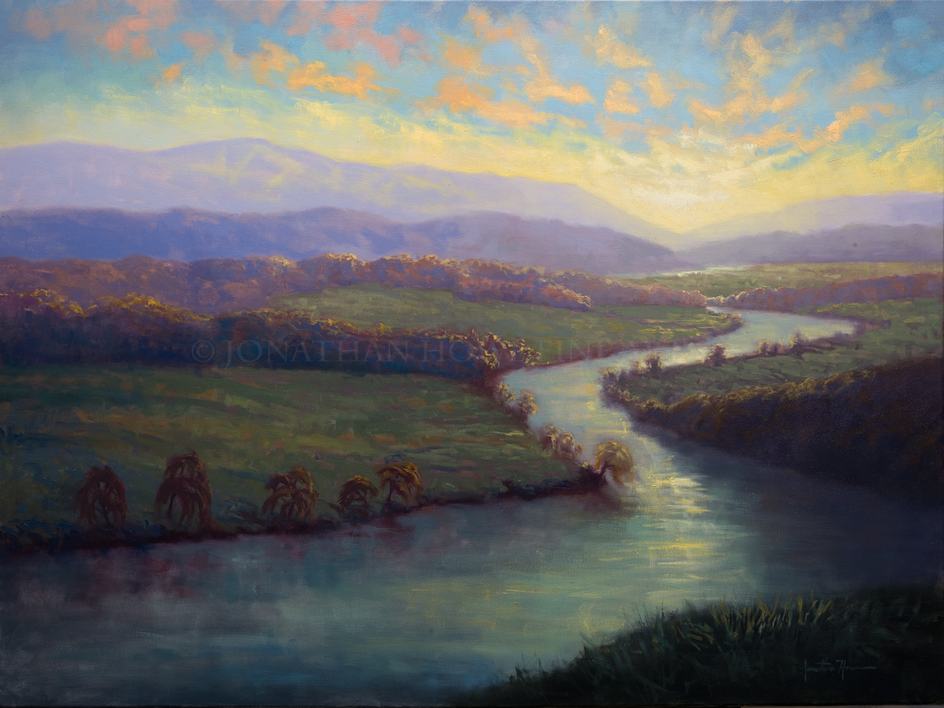 """Ever Flowing"" 30x40 in. Oil on Canvas"