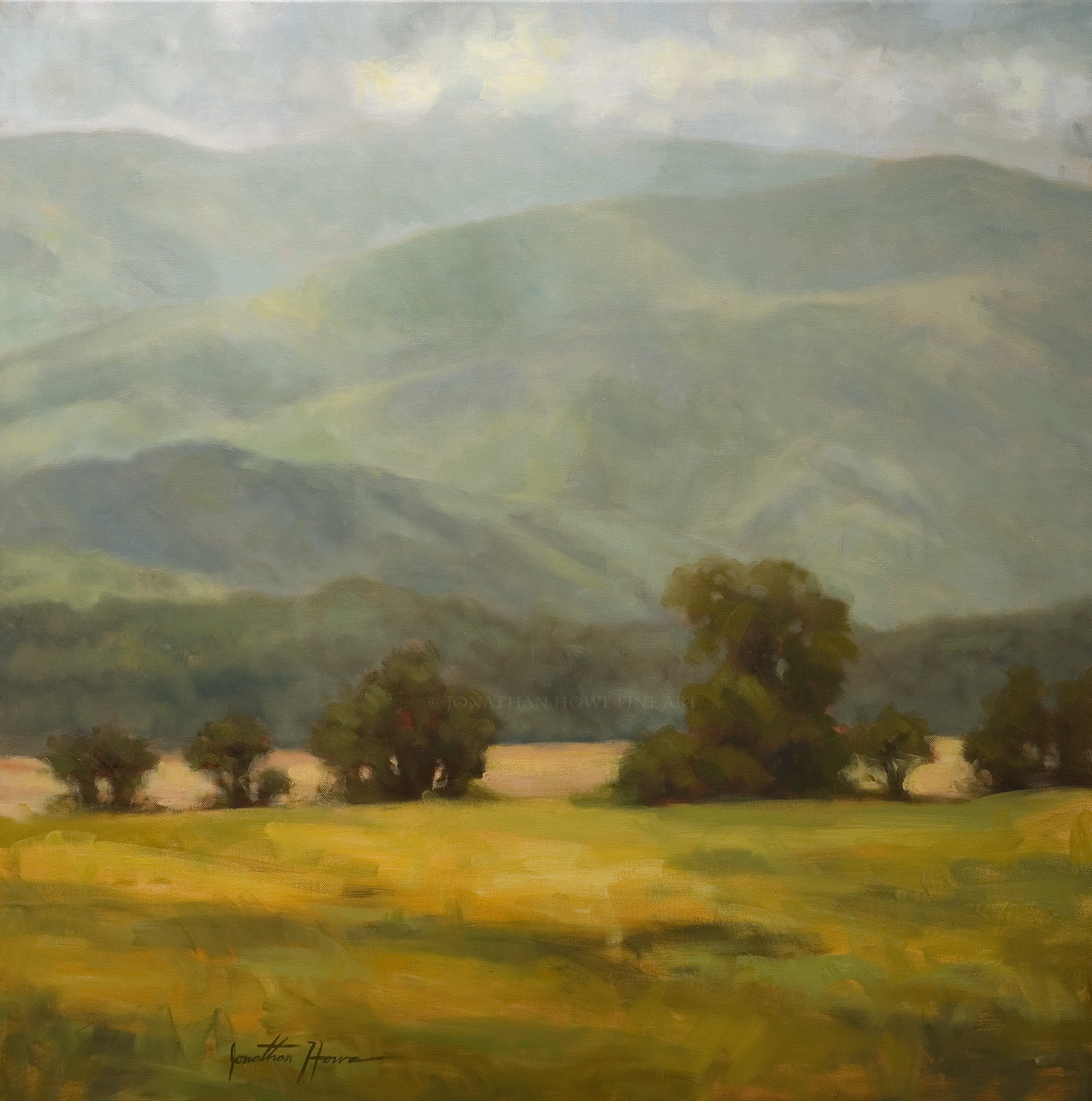 """""""At the Foothills"""" (Private Collection) 36x36"""