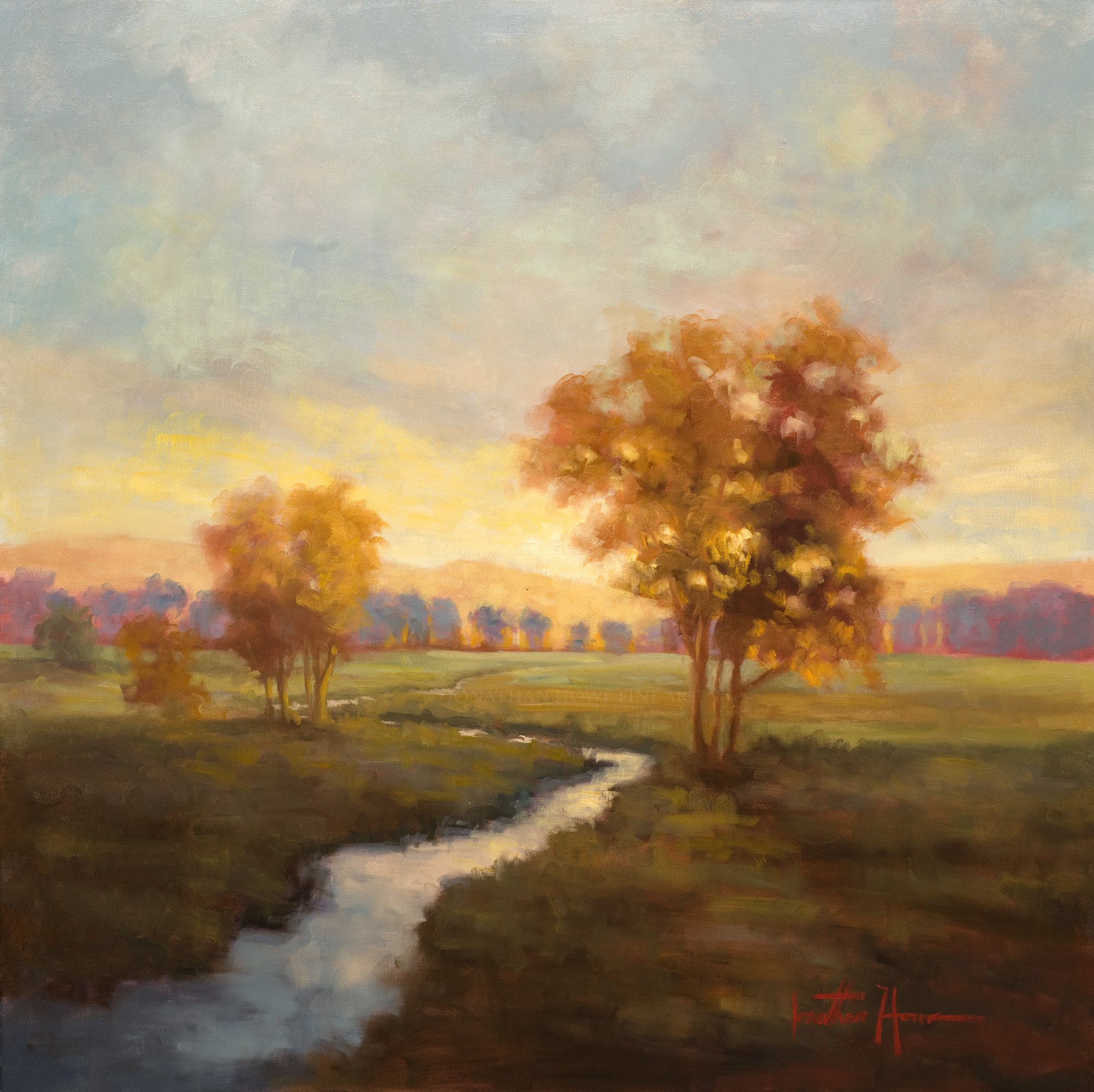"""""""Faithfulness of the Dawn"""" (Private Collection) 36x36"""