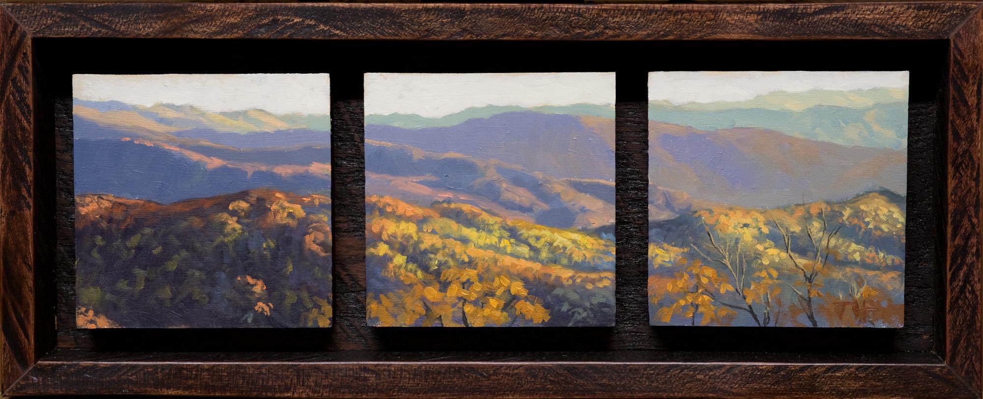 """""""Cherahola Skyway"""" - 3x9 Oil on Panel"""