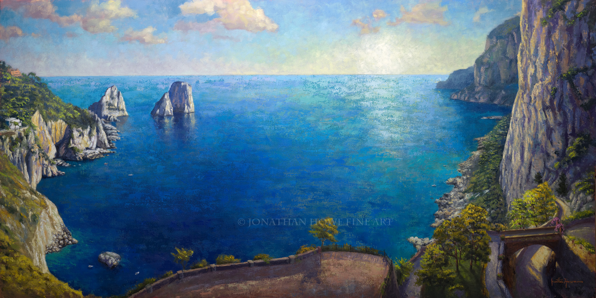 """Capri""  36x72 in. Oil on Canvas"