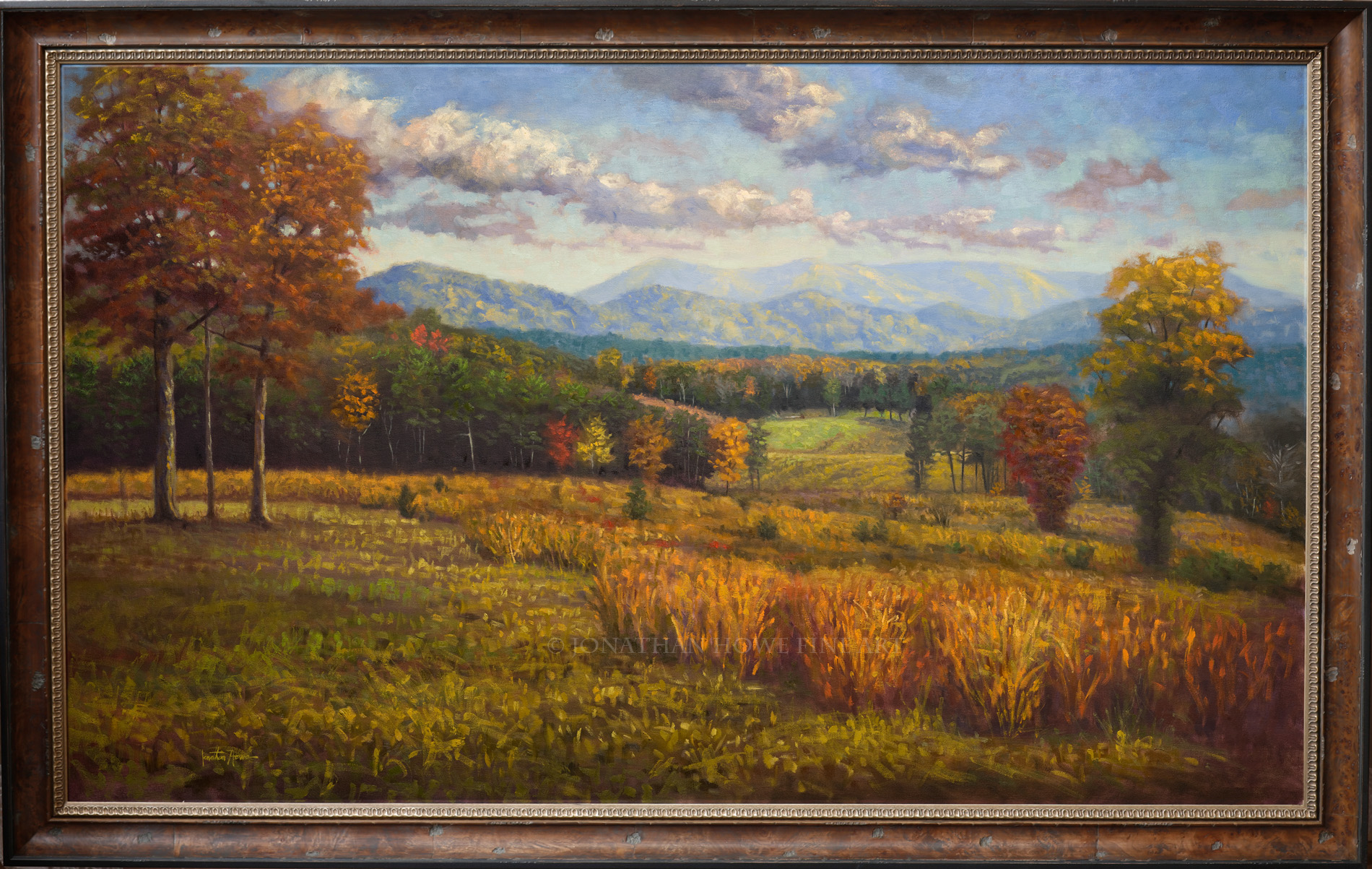 """Calhoun Farm"" 36x60 in. Oil on Canvas"