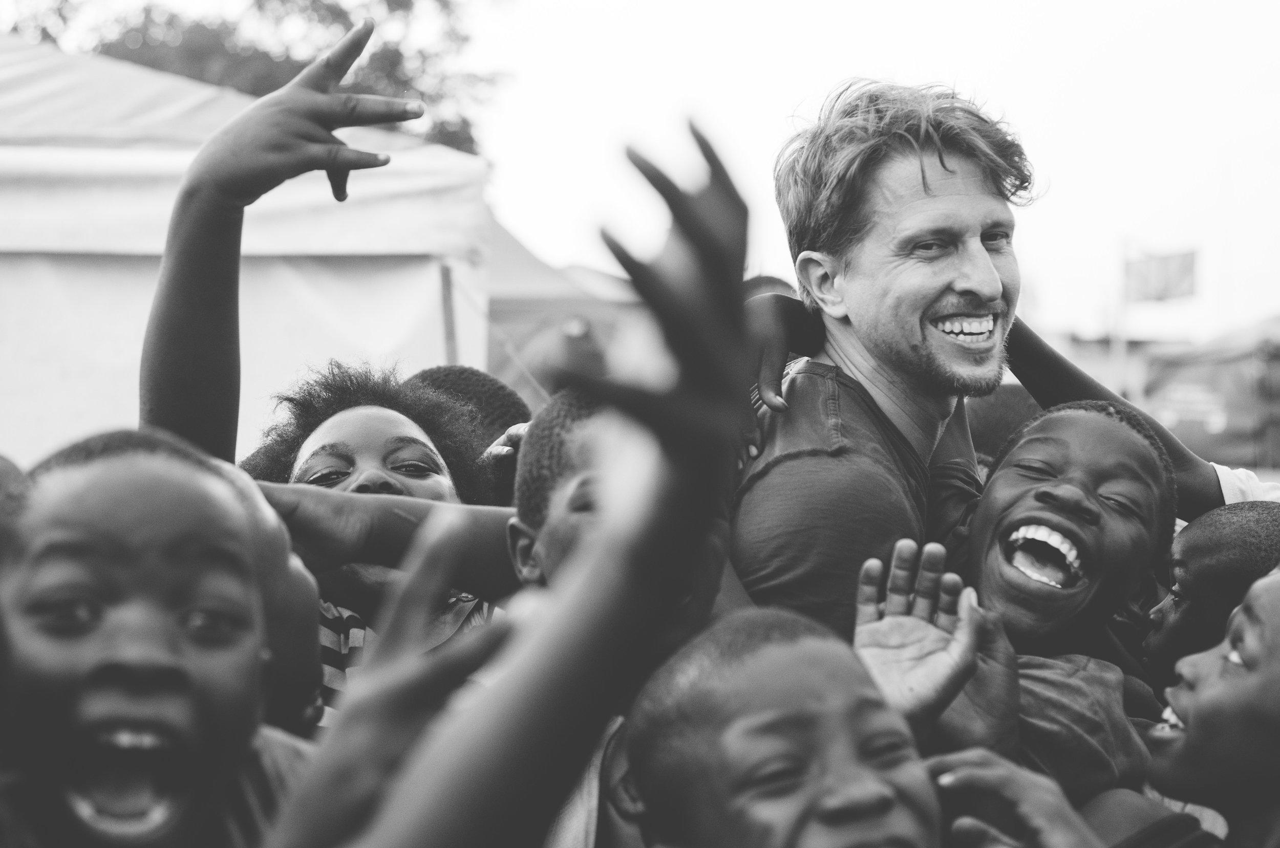 Documentary Filmmaker Tyler Q. Rosen in Lusaka, Zambia. Photograph by Adam Battaglia.