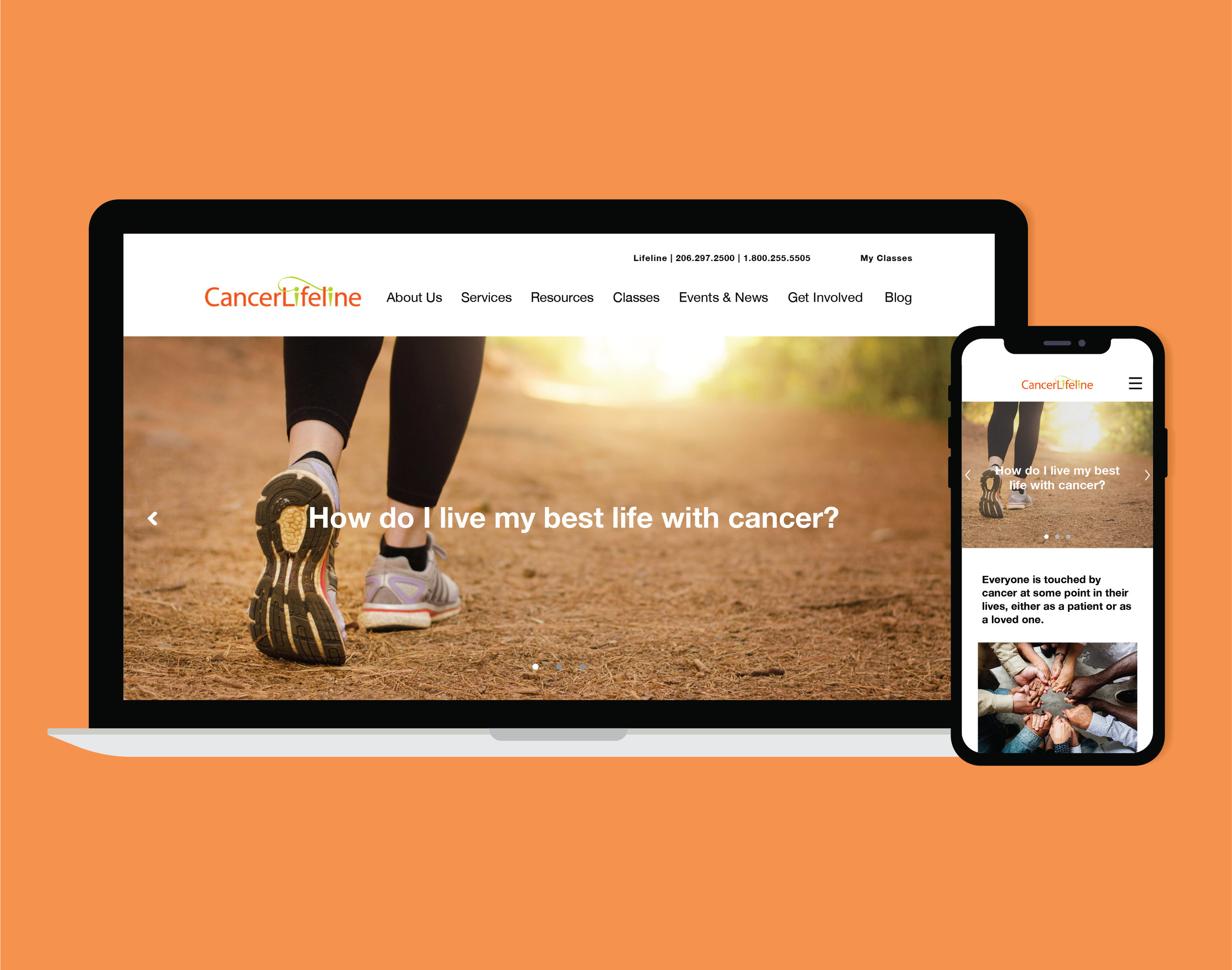 Cancer Lifeline - A website that creates a community for people affected by cancer.
