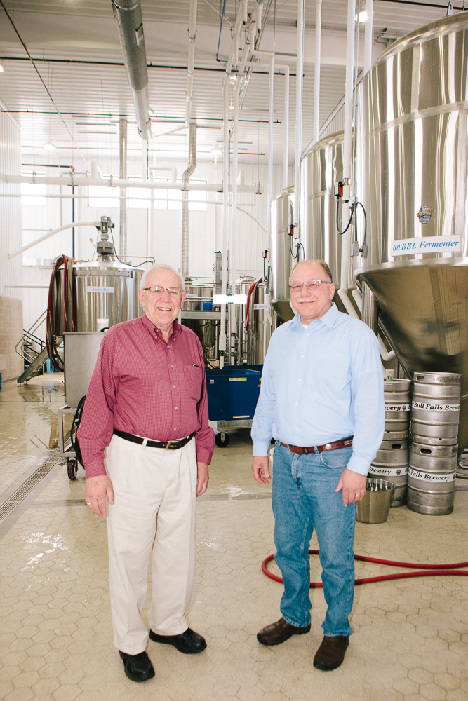 Mike and Don Zamzow, founders of Bull Falls Brewery