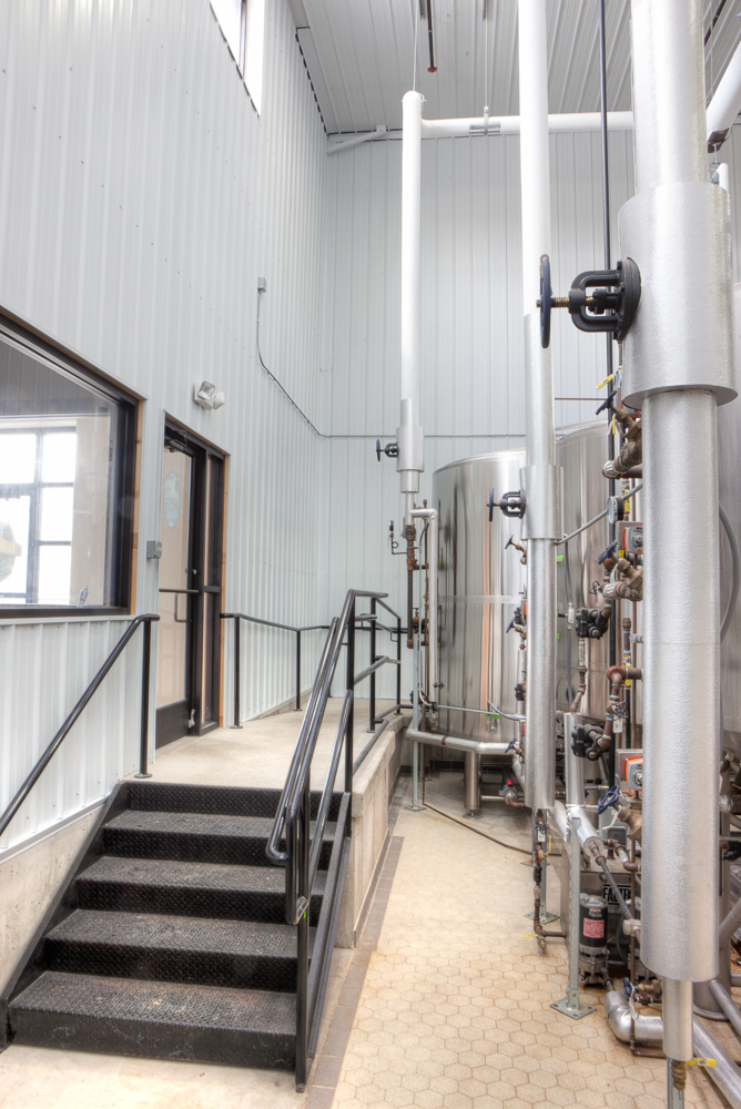 Complying to code, Wanta and Son devised a plan for custom stair and ramp access for all of Bull Falls Brewery's tours and employees.