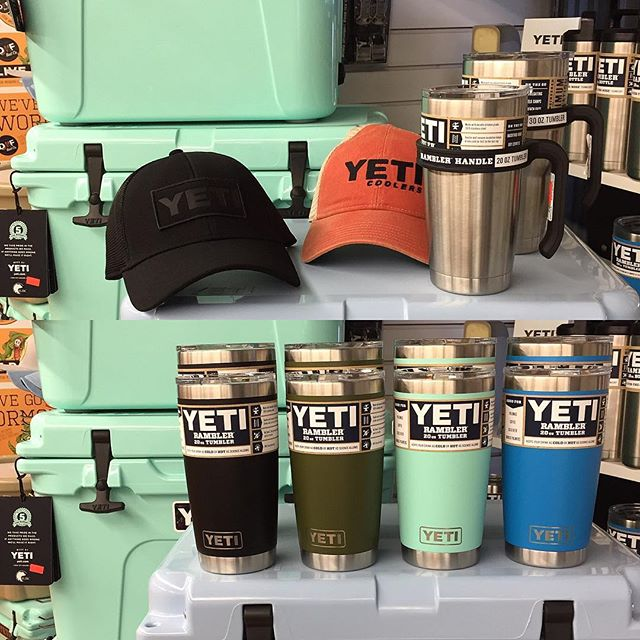 New Yeti cups, hats, and handles are here! Also, receive $100 off any Yeti hopper!