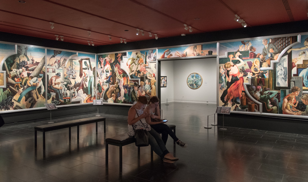 Thomas Hart Benton murals at the Met