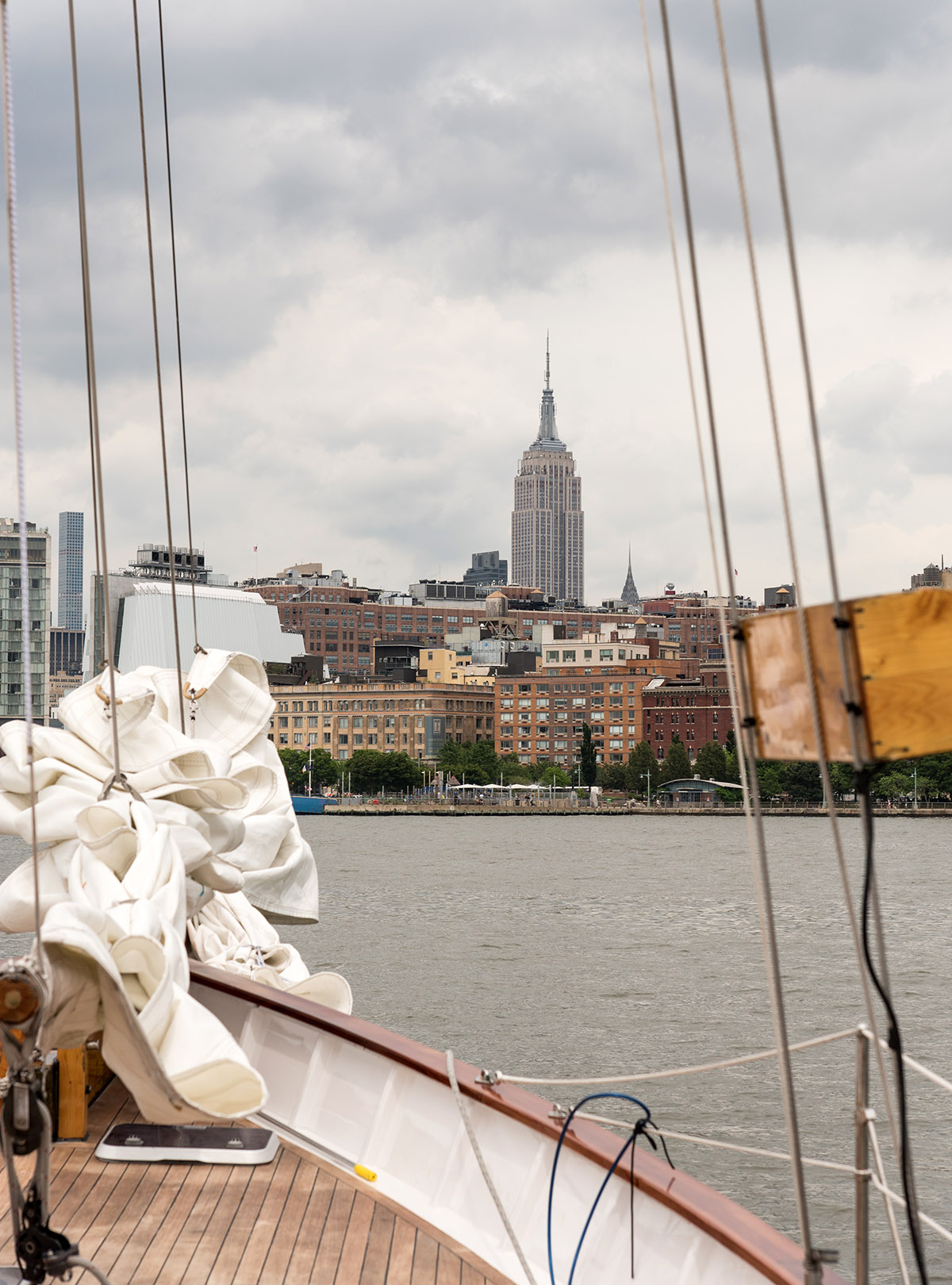 Sailing towards the Empire State Building, NYC
