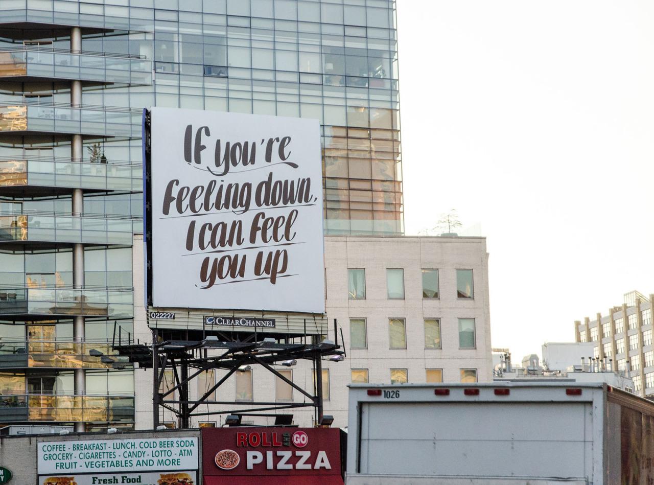 Billboard in Soho, NYC.
