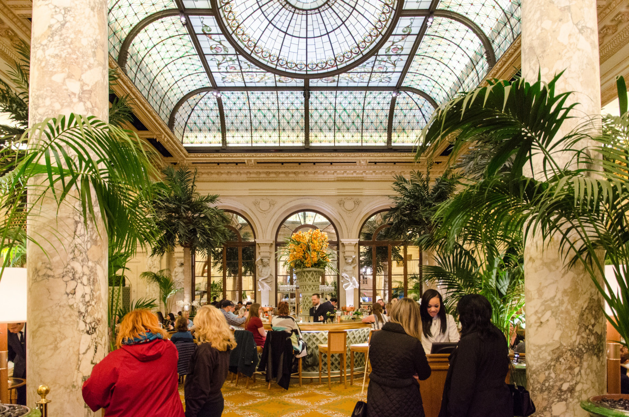 Lobby of the Plaza Hotel in Manhattan, NYC