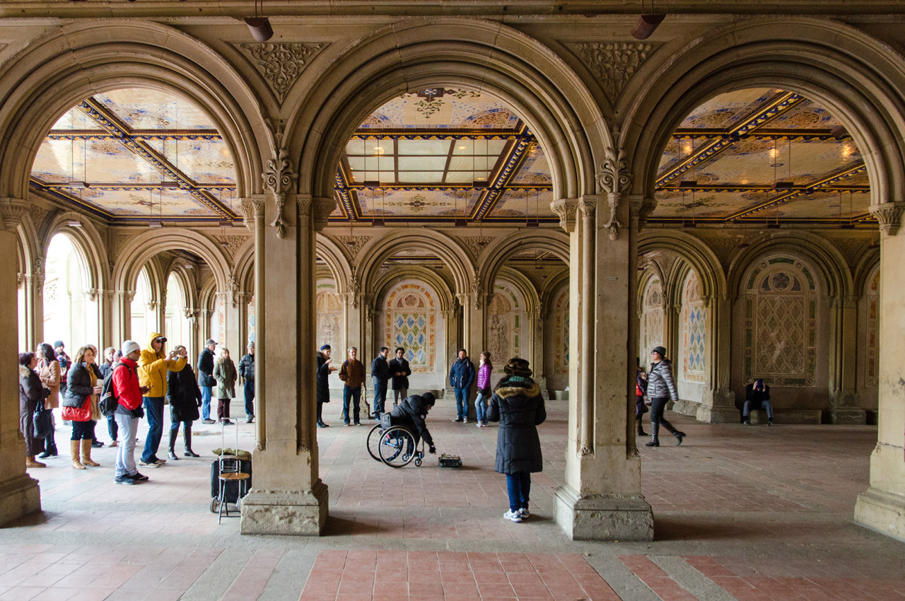 Bethesda Terrace Arcade in Central Park, NYC.