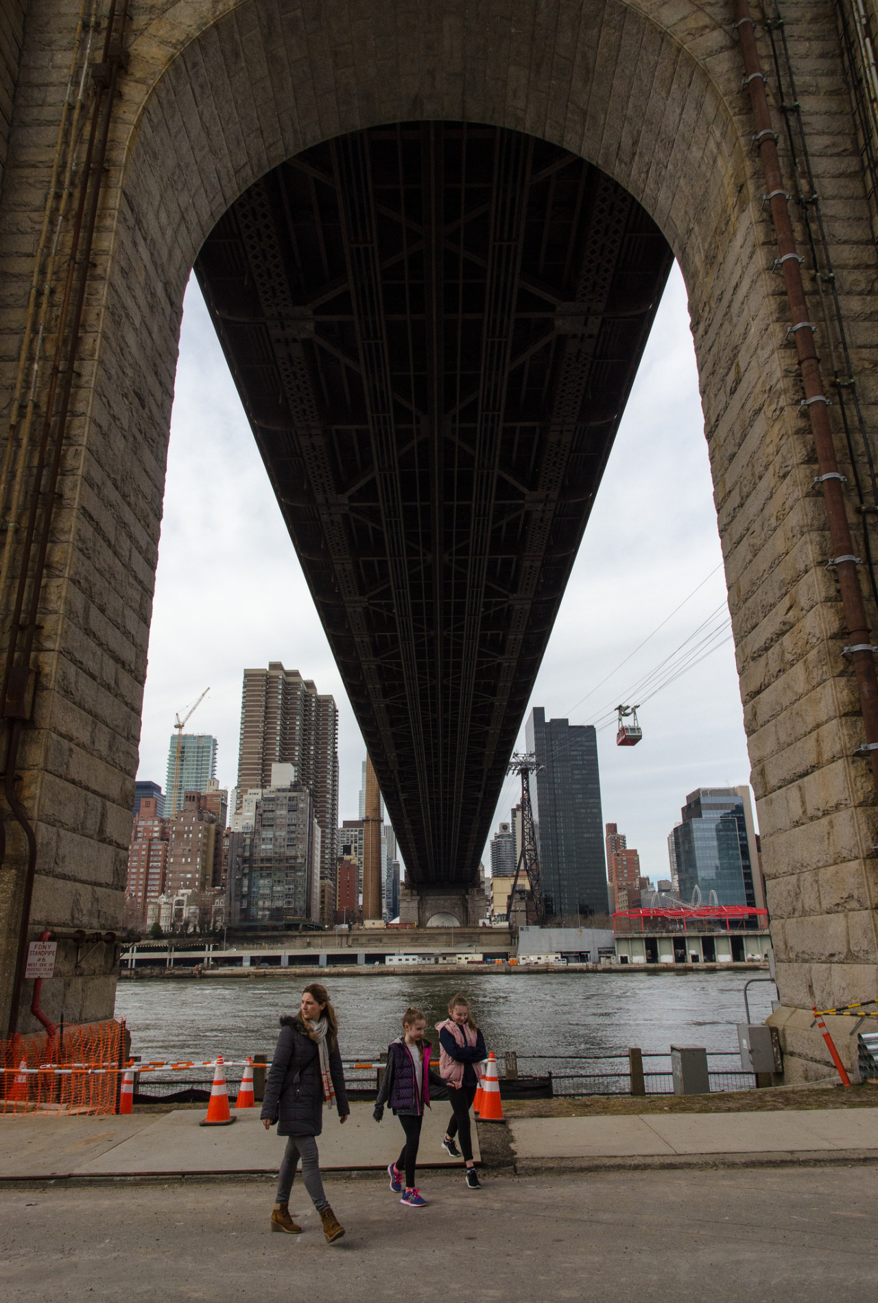 Under the Queensboro Bridge, NYC.
