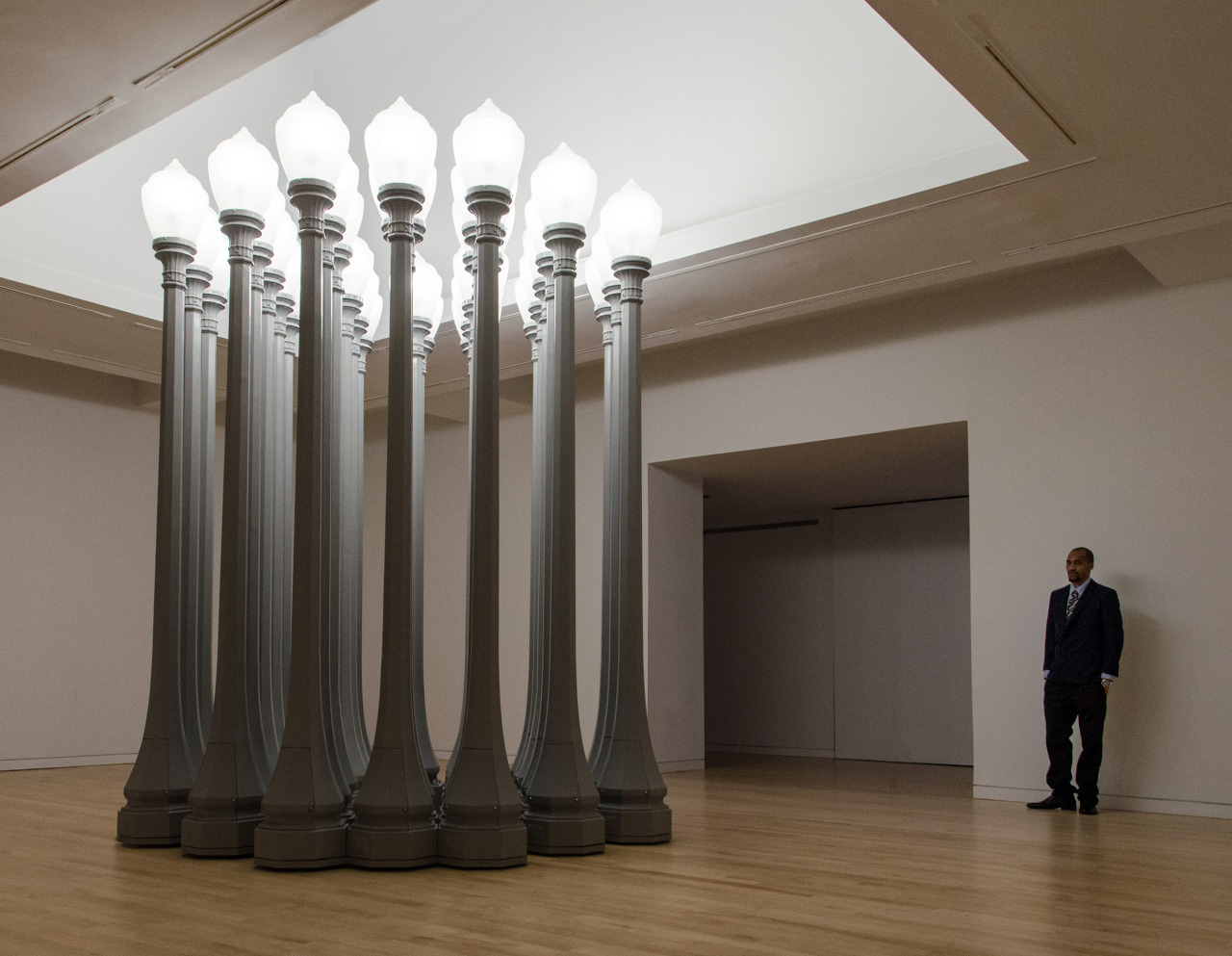 Chris Burden,  Buddha's Fingers   at the Gagosian, NYC.