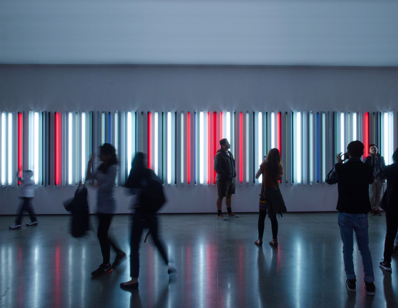 Robert Irwin installation at LACMA in Los Angeles.