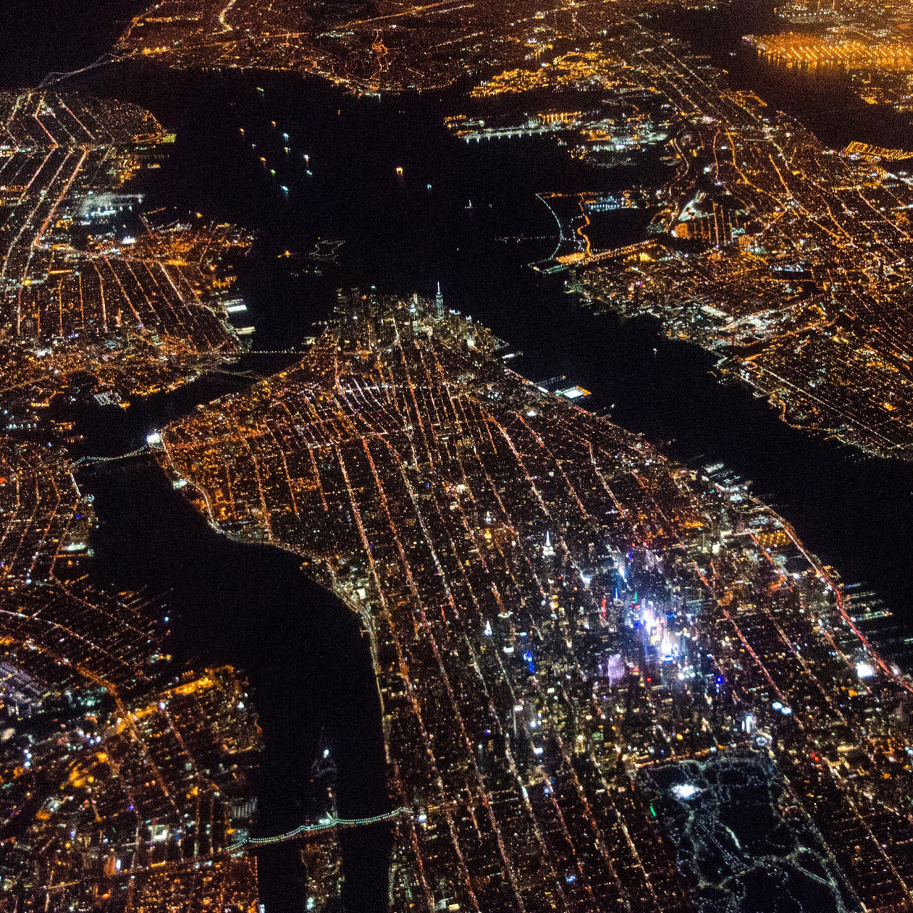 New York at night.