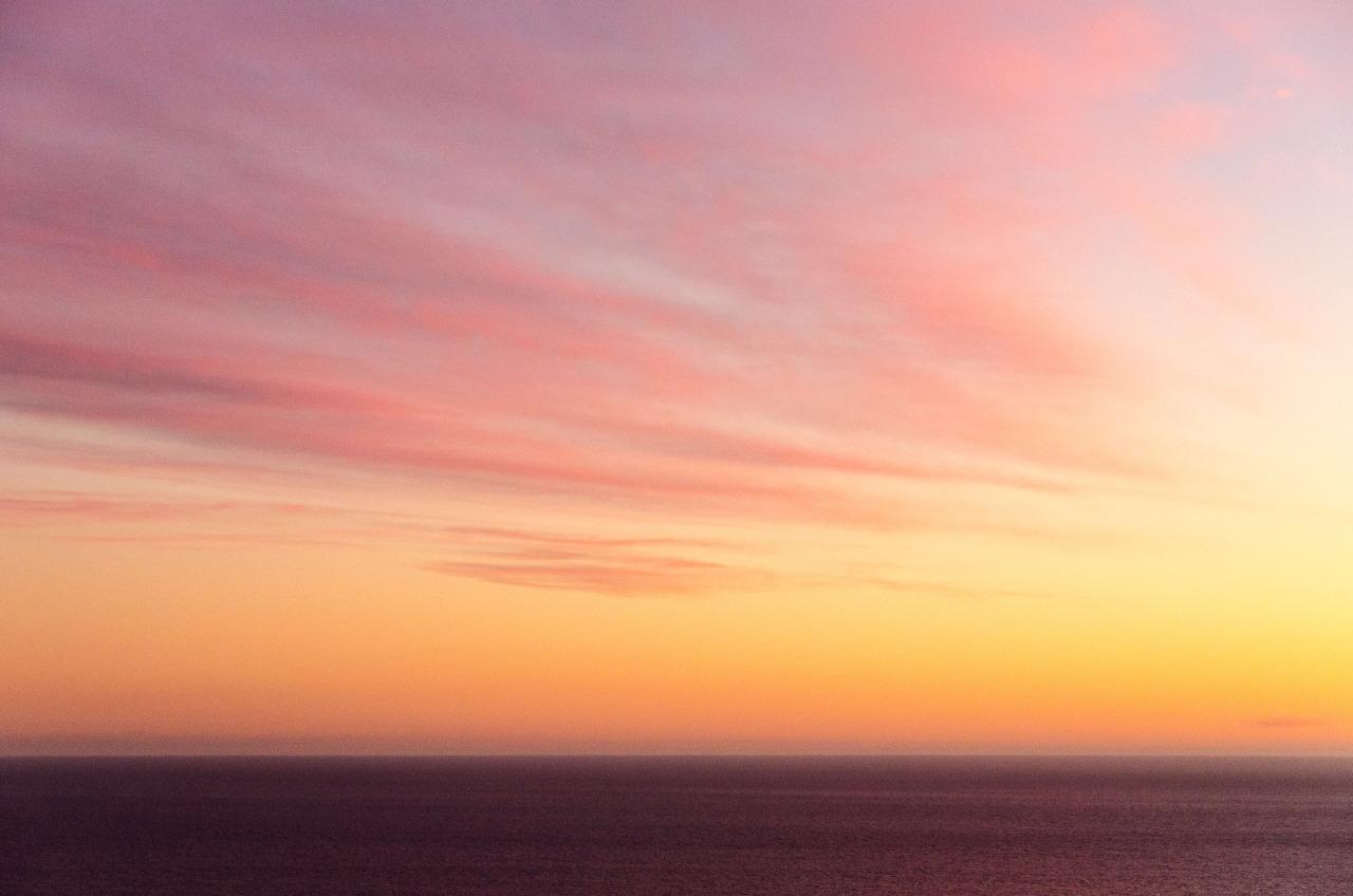 Malibu sky from a hill.