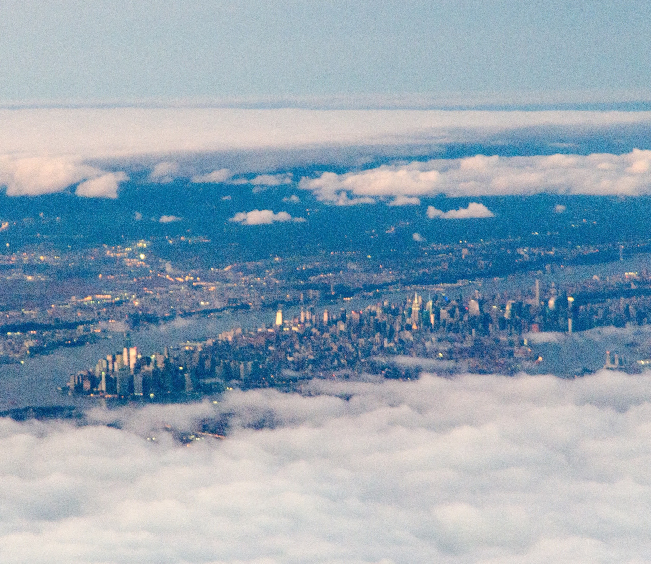 Manhattan from the skies.