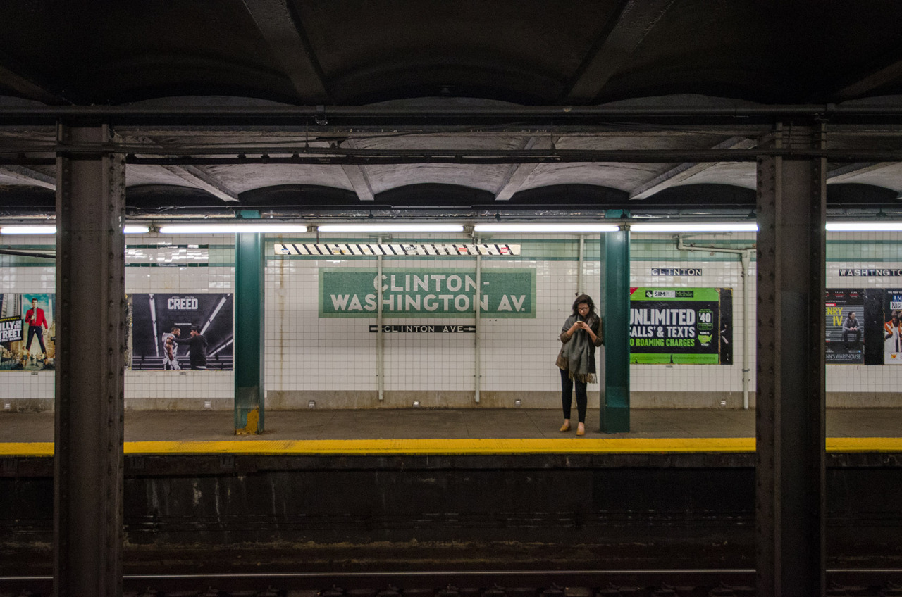 Clinton-Washington Avenue Subway Station in Clinton Hill, Brooklyn, NYC