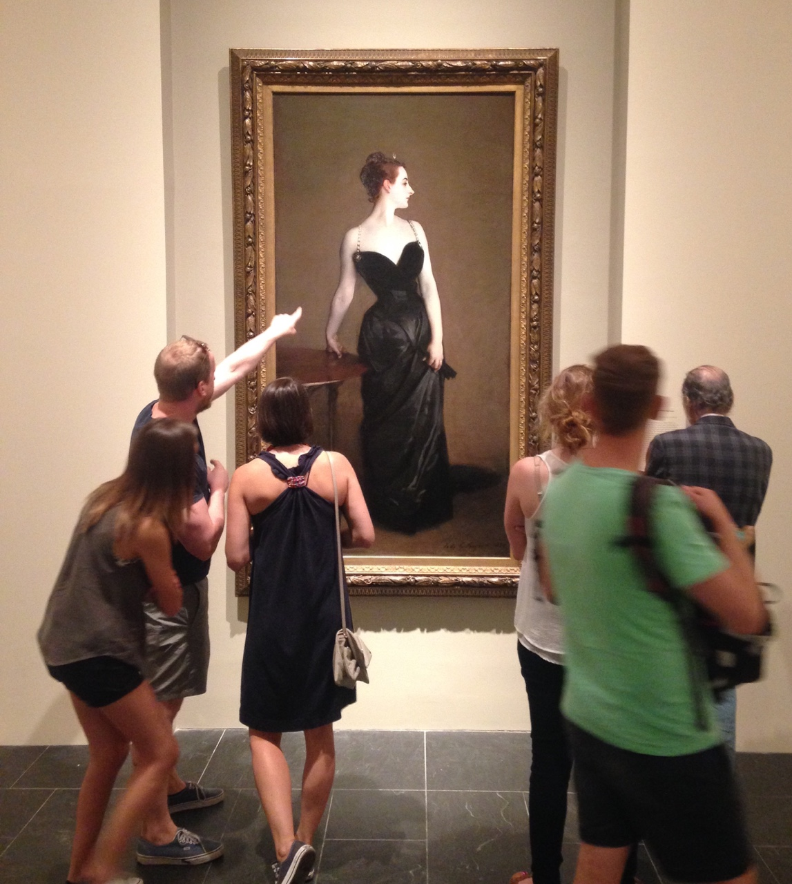 Madame X at the John Singer Sargent exhibition at The Metropolitan Museum of Art.