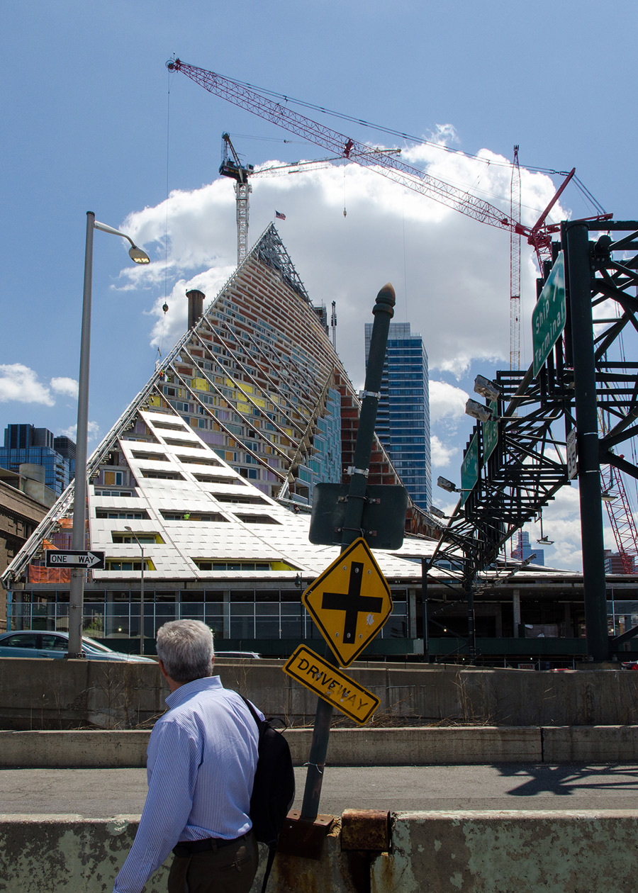 West 57th Street Tetrahedron going up in Hell's Kitchen, New York City
