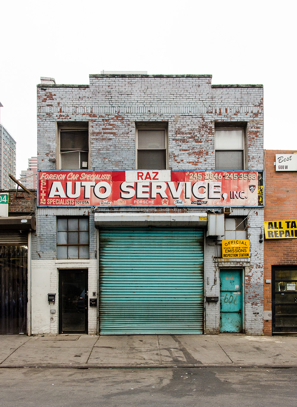 Raz Auto Service in Hell's Kitchen, New York City.