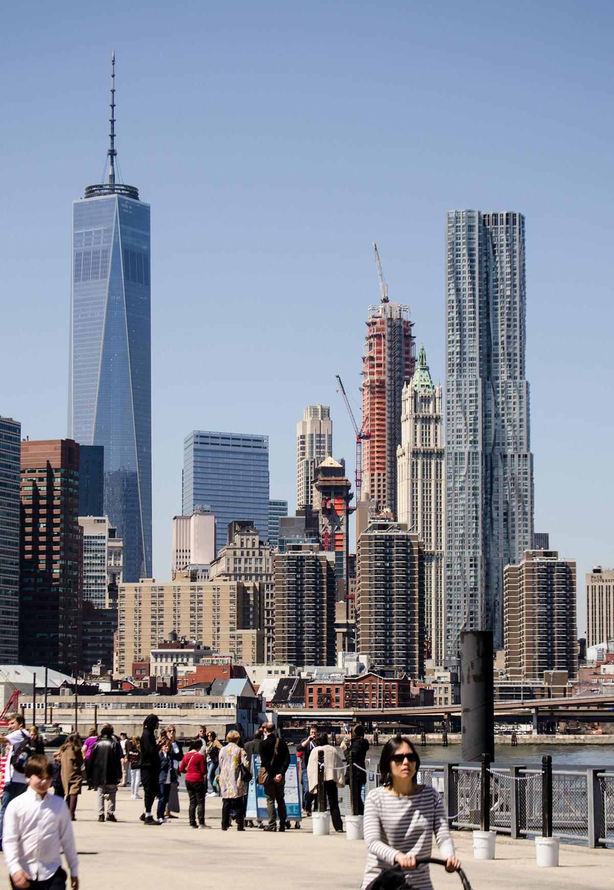 Lower Manhattan from Brooklyn Bridge Park.