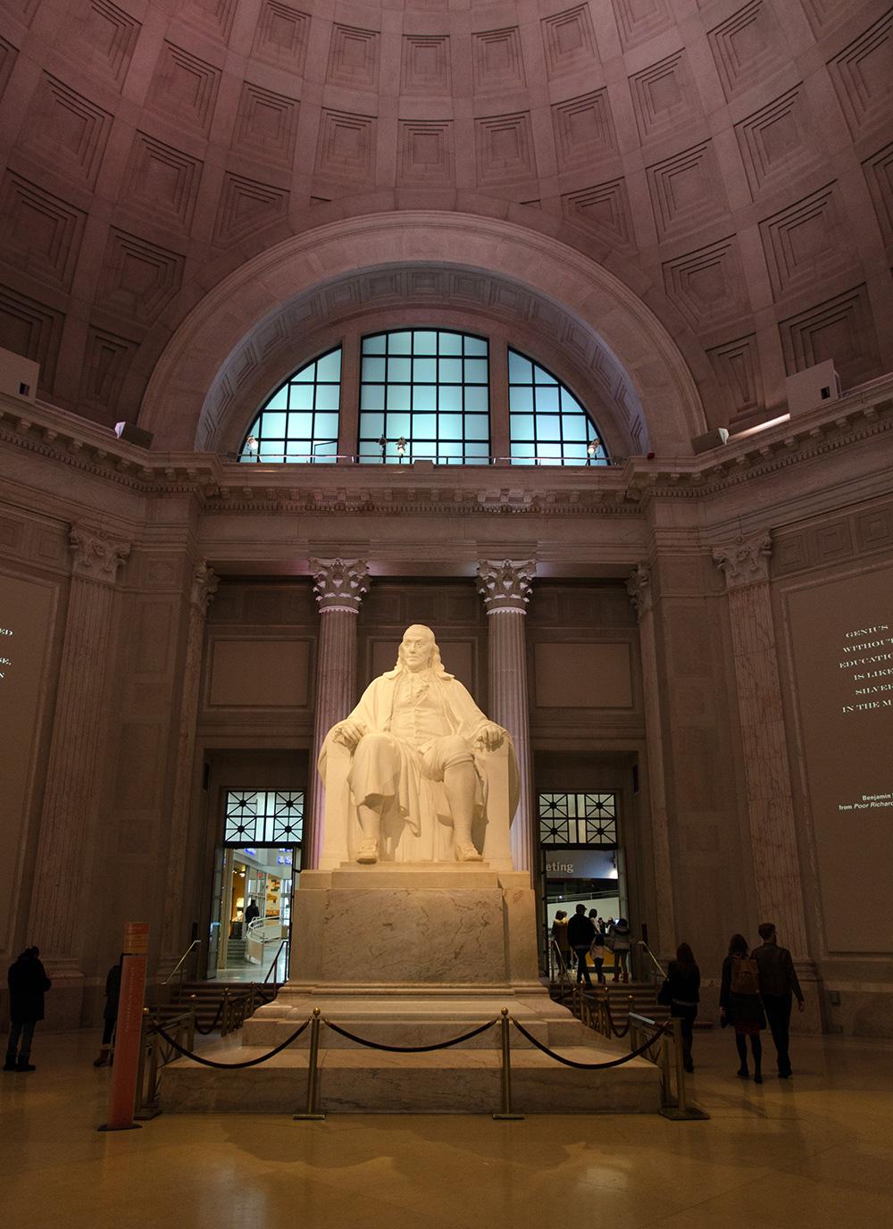20-foot high Ben Franklin statue at The Franklin Institute in Philadelphia.