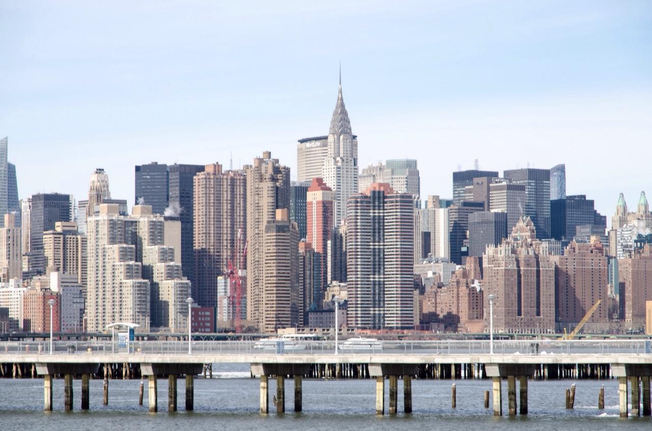 Manhattan from Transmitter Park. Greenpoint, Brooklyn.