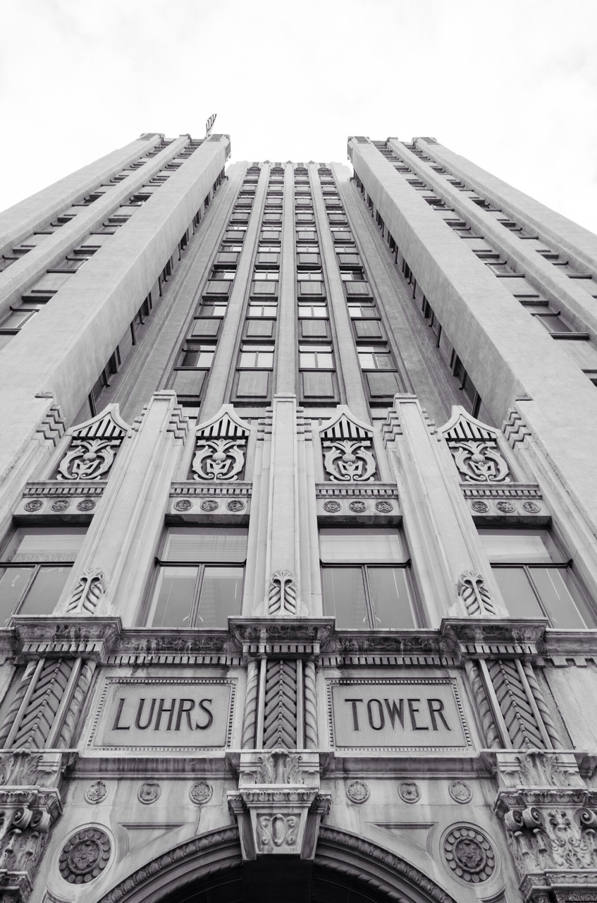 Luhrs Tower, an Art Deco skyscraper building in Downtown Phoenix, Arizona.