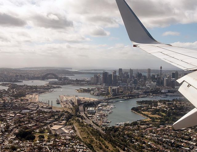 Sydney from the air.  #work #sydney