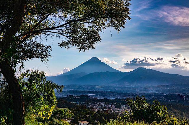 Incredible view of the Volcàn de Aqua! • • #volcano #landscape #travel #Guatemala