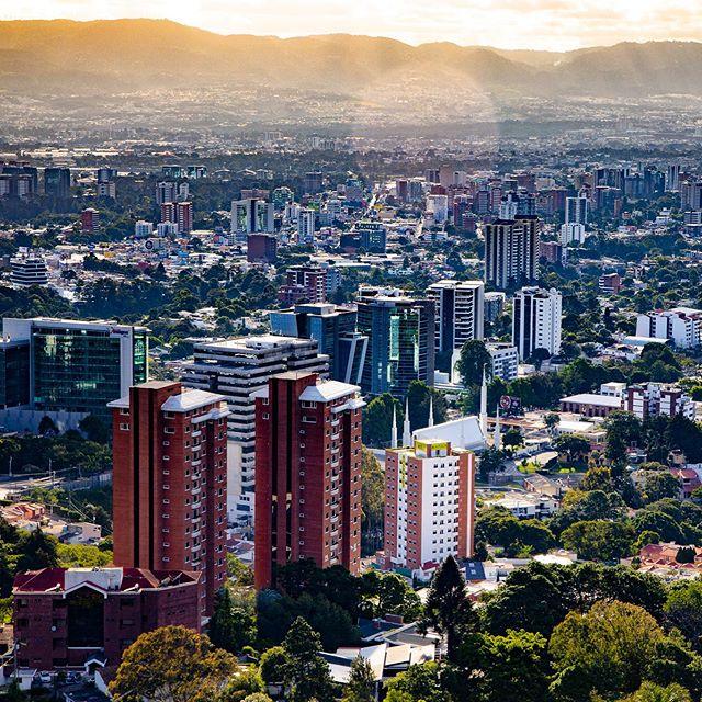 Birds eye view of Guatemala City 🇬🇹 #travel #guatemala #centralamerica #city #urban