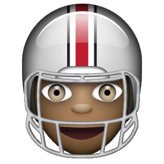 Ohio State Emoji football