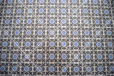 Designer tile in powder room