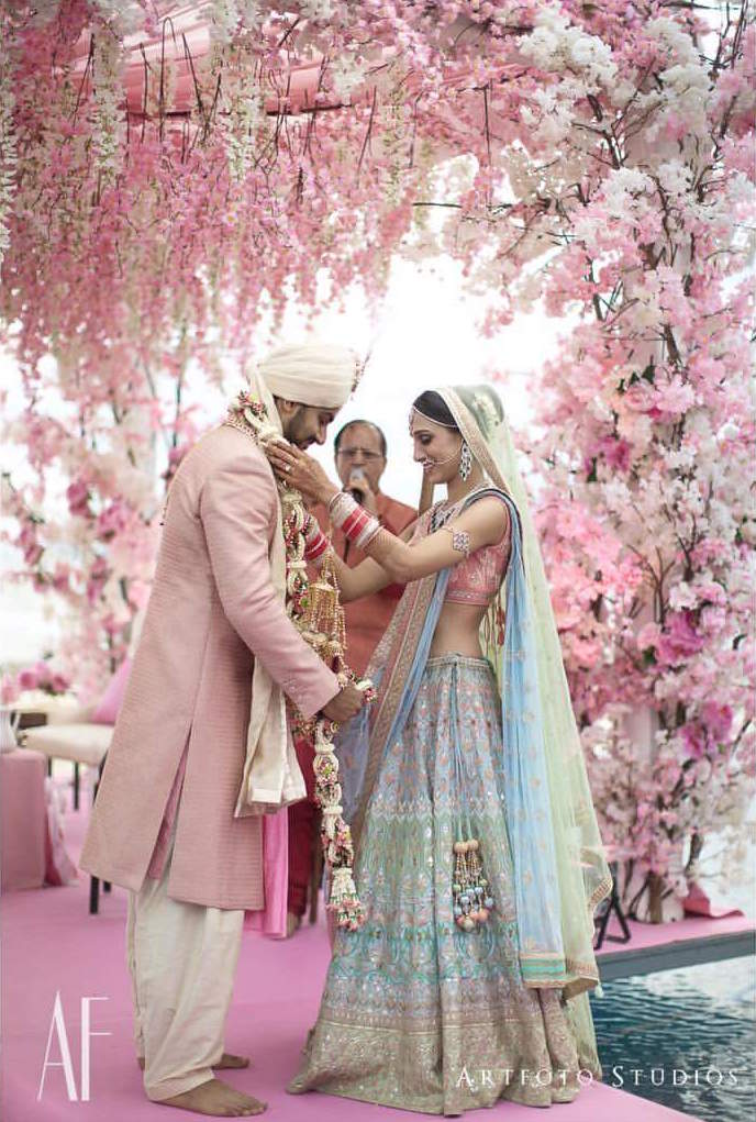 Blue-wedding-lehenga-with-gota-patti-work-Wedding-lehenga-colour-trends-for-2018-Urbanclap-Weddings.jpg