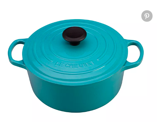 Le Creuset  7.25-quart signature round Dutch oven, $380,  Crateandbarrel.com