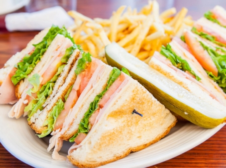 Turkey Club w/ Fries