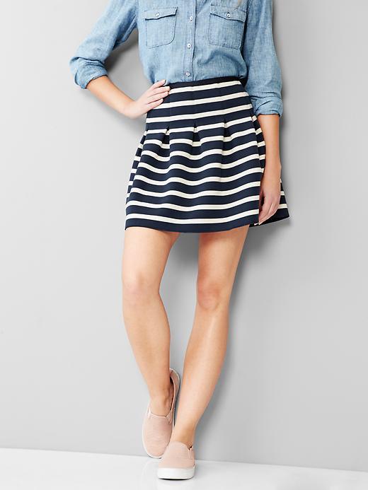 striped flared skirt the gap.jpg