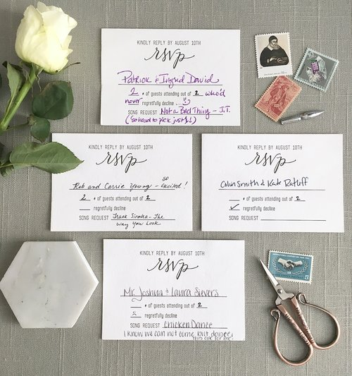 6 Common Questions About Wedding Rsvp Cards Elisaanne