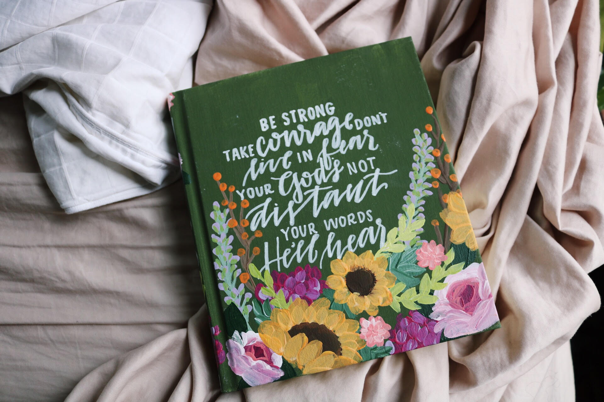 A beautiful hand-painted Bible from Hosanna Revival! Each Bible is unique in certain aspects and is tailored to the vision of the person who orders it!