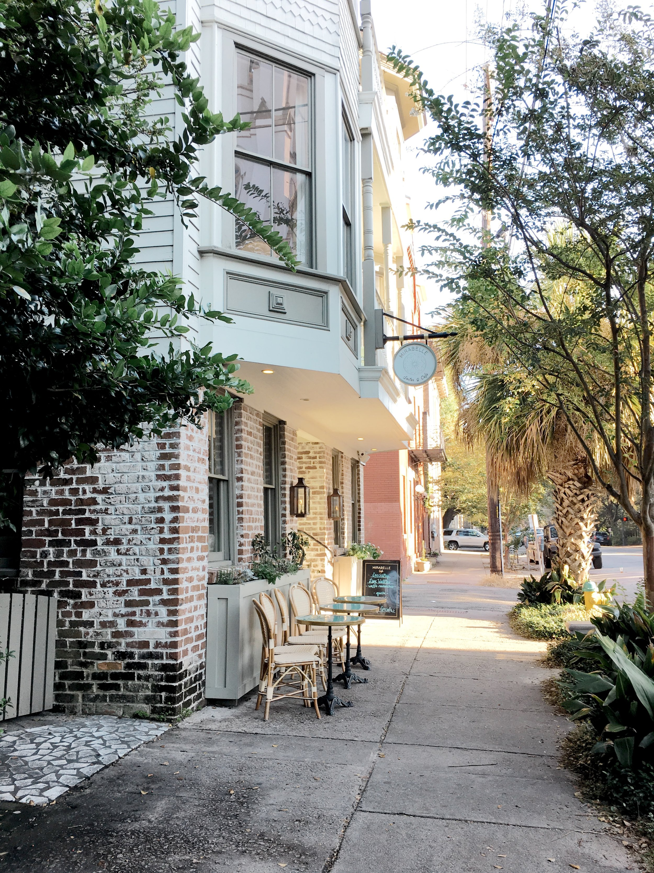 Mirabelle Cafe in Savannah, GA! A wonderful stop for our very last morning in the city before we both drove home.