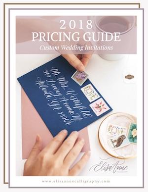 custom wedding invitation pricing guide, atlanta stationer