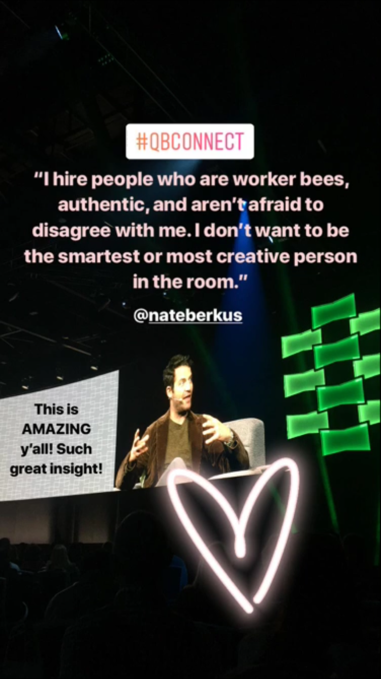 Nate Berkus, probably my favorite speaker of the whole conference! Photo posted to my  Instagram  Stories on Nov. 16, 2017.