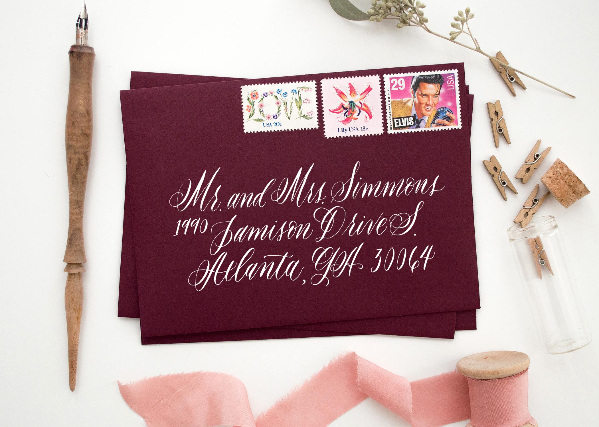 atlanta calligraphy, atlanta calligrapher, marietta calligraphy, marietta calligrapher, envelope addressing georgia
