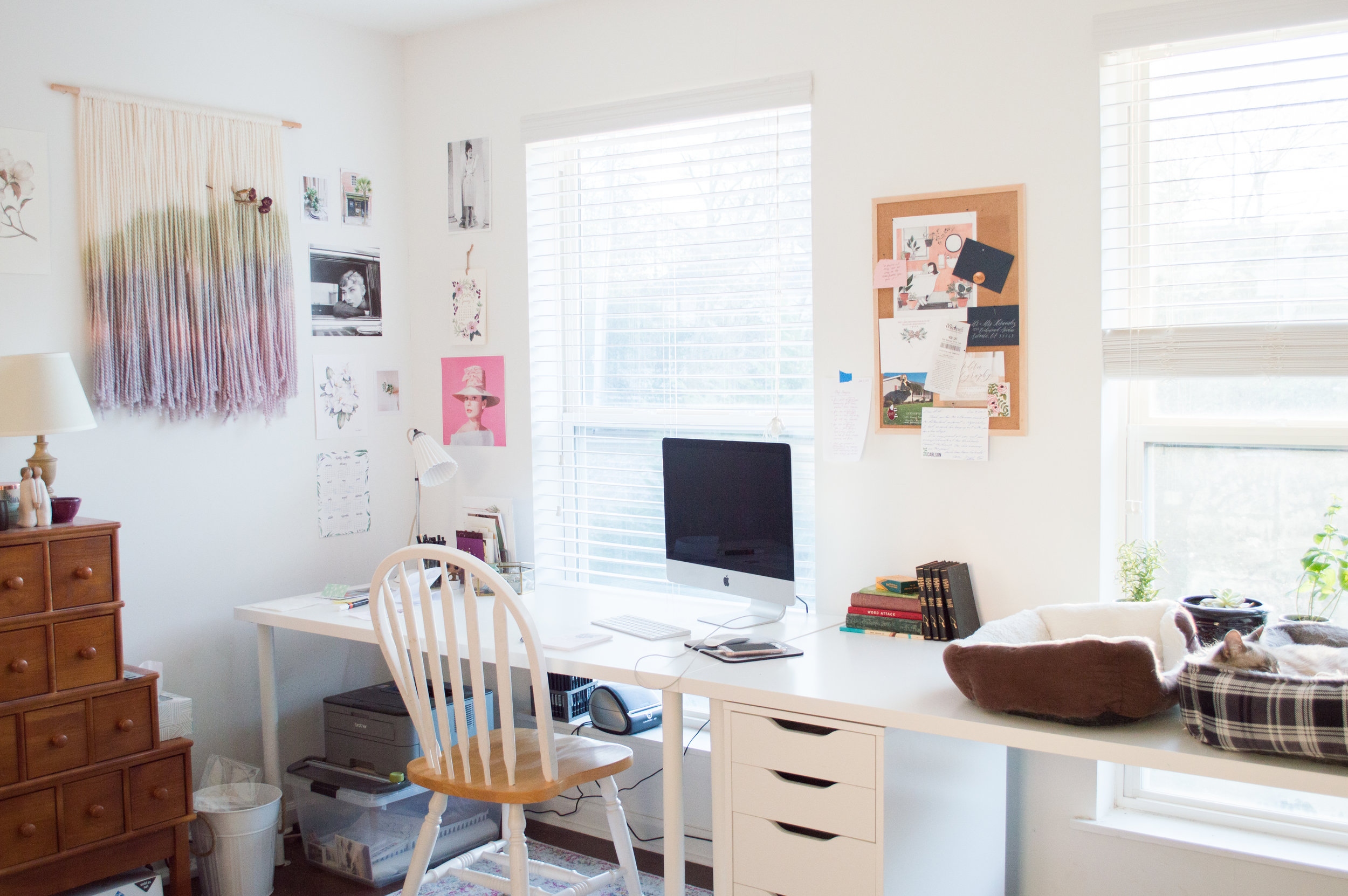 marietta calligrapher, studio photo, work from home, home office inspiration