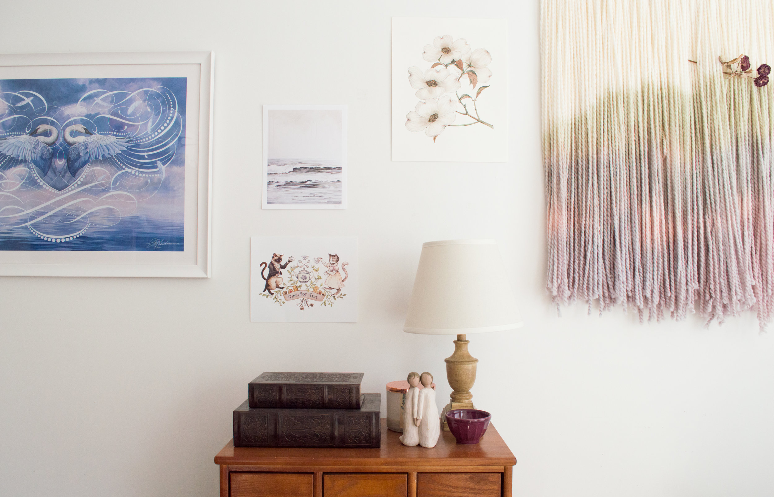 """LEFT:  """"Fidelity Bound"""" by Jake Weidmann.  MIDDLE:  Top Left - Brynn Casey Art Print 
