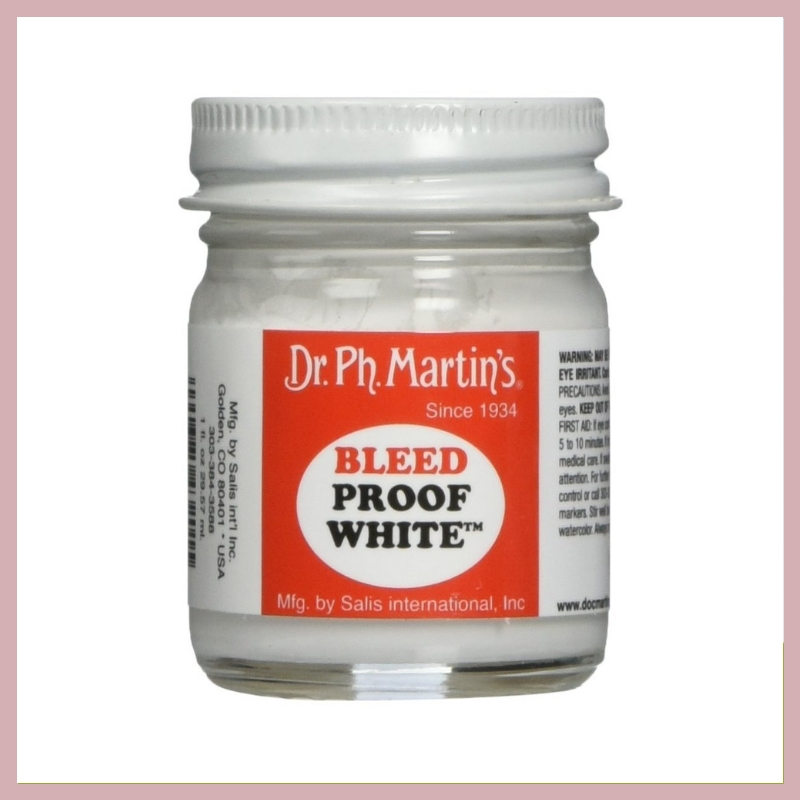 DR. PH MARTIN'S BLEED PROOF WHITE - This is my go-to white ink for calligraphy! I absolutely love using it for calligraphy on darker envelopes such as black, navy, green, dusty rose, etc. I don't recommend anything else. This is the perfect little stocking stuffer!