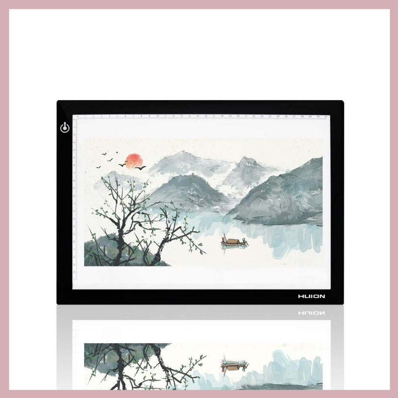 HUION LIGHT PAD - This is great for calligraphers just starting out that need help keeping their lines straight! I also love using mine when I'm creating watercolor art based off of line drawings that I've done. A great tool for any artist!