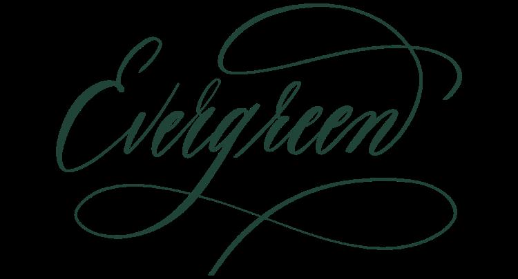 evergreen, ipad calligraphy, procreate calligraphy, ipad pro lettering